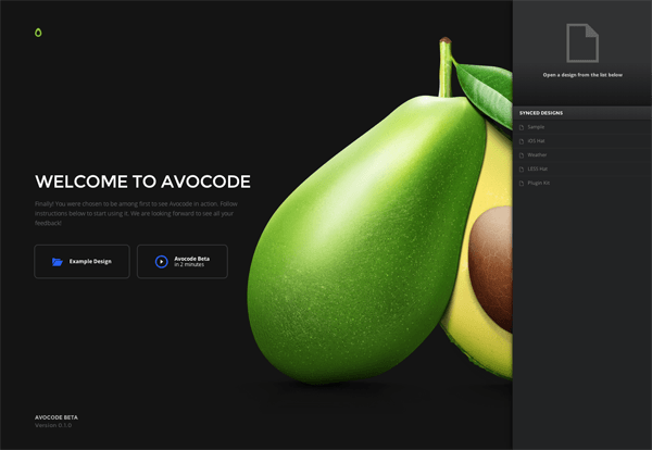 Nowadays the most modern designers work with Avocode